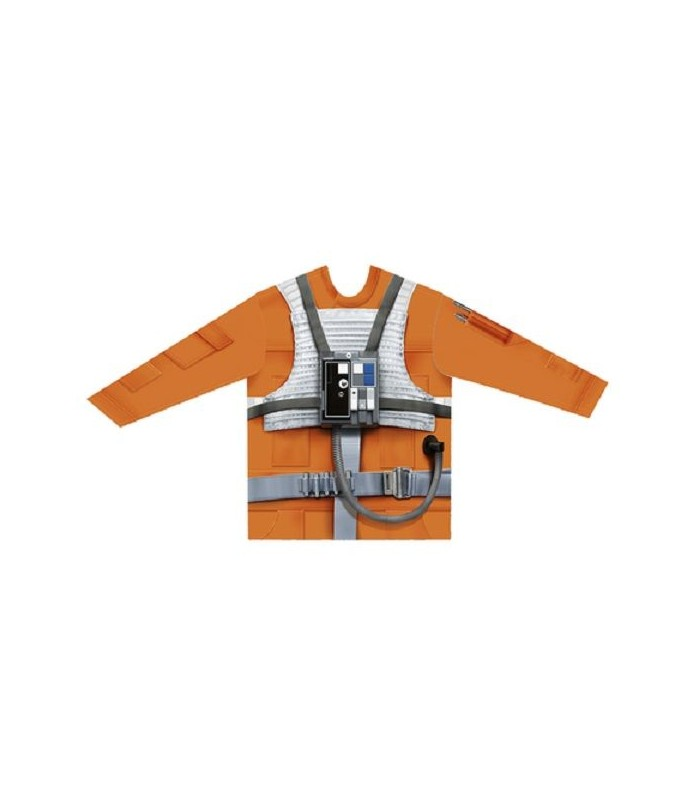 Camiseta manga larga hiperrealista Piloto X-Wing - Star Wars