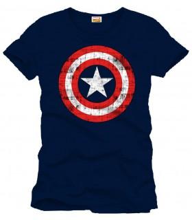 Camiseta Capitán América azul marino