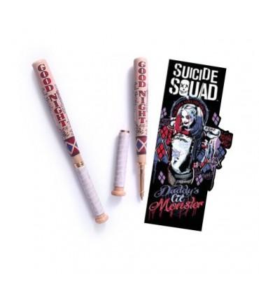Bolígrafo con marcapáginas bate béisbol Harley Quinn - Escuadrón Suicida