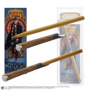 Bolígrafo con marcapáginas varita de Newton Scamander- Animales Fantásticos
