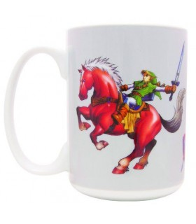 Taza Link y Epona - The Legend of Zelda