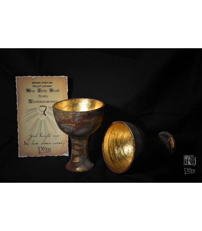 El Santo Grial Copa de Resina Holy Grail Replica Indiana Jones