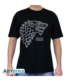 Camiseta negra Lobo huargo Stark - Juego de Tronos