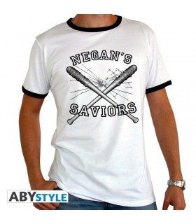 Camiseta blanca Negan's Saviors - The Walking Dead