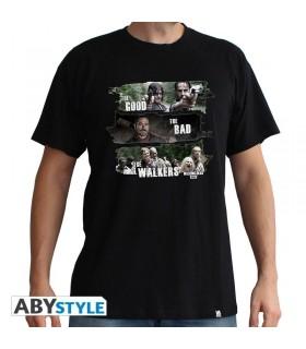 Camiseta negra good, bad &walkers - The Walking Dead