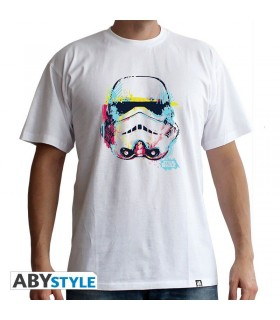 Camiseta blanca Stormtrooper de colores - Star Wars
