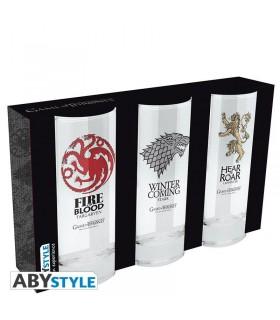 Set de vasos de vidrio - Juego de Tronos