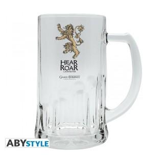 Jarra cerveza de vidrio Lannister - Juego de Tronos
