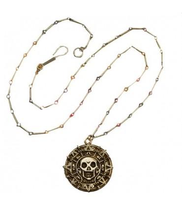 Colgante de Elizabeth Swann Moneda Azteca Piratas del Caribe