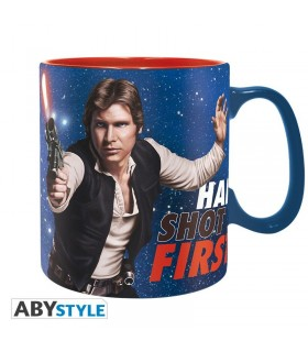 Taza grande de cerámica han disparó primero - Star Wars