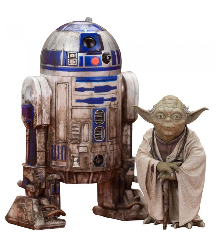 Pack de 3 figuras en escala 1/10 C-3PO & R2-D2 & BB-8 - Star Wars Episodio VII