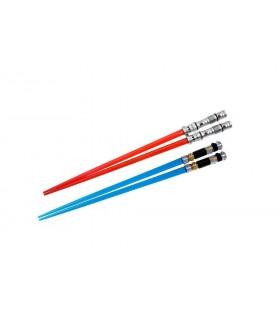 Set de Palillos Chinos sable láser Darth Maul y Obi-Wan Kenobi - Star Wars