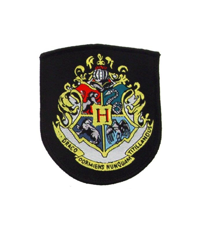 Escudo Tela Bordada Hogwarts - Harry Potter