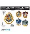 Pegatinas emblemas Hogwarts Harry Potter