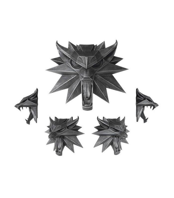 Escultura mural  Emblema Lobo Geralt de Rivia- The Witcher