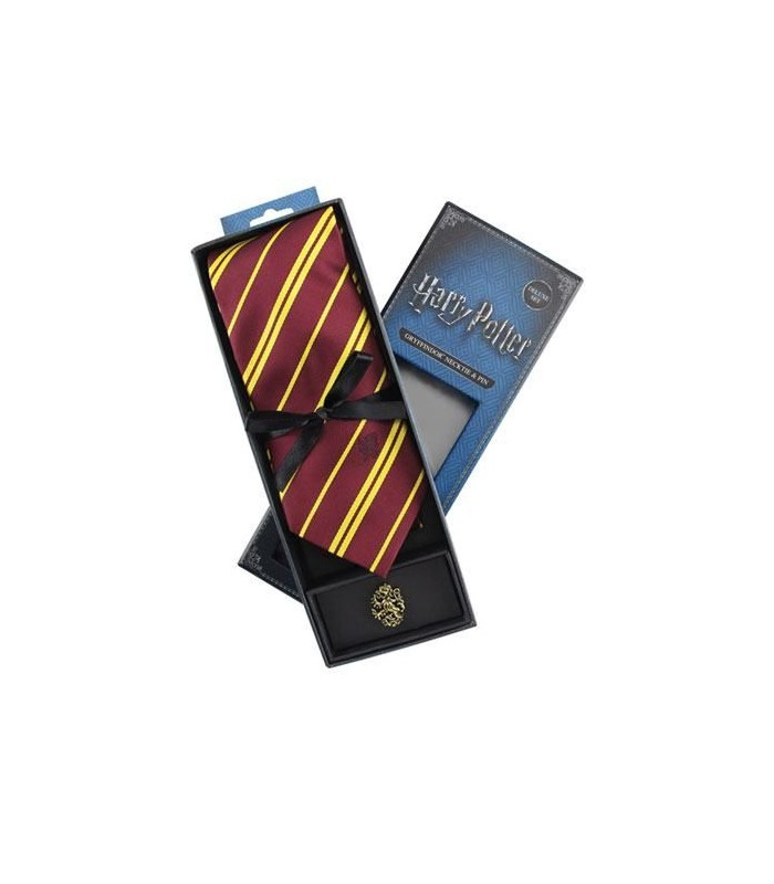 Set Deluxe de Corbata & Pin Gryffindor - Harry Potter