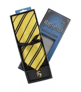 Set Deluxe de Corbata & Pin Hufflepuff - Harry Potter