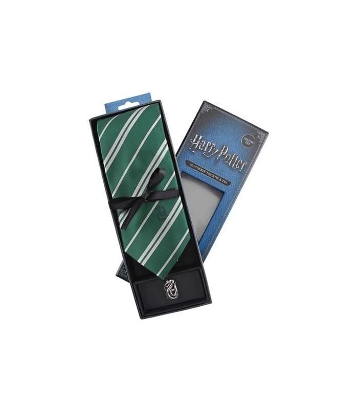 Set Deluxe de Corbata & Pin Slytherin - Harry Potter