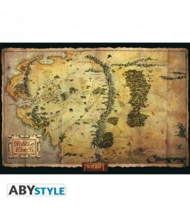 Póster Mapa Edad Media - The Hobbit