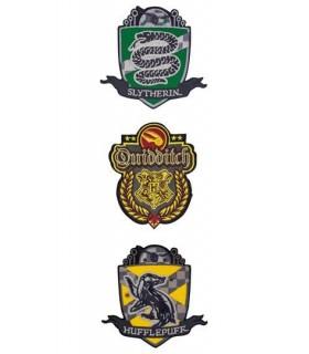 Pack de 3 Parches Deluxe Quidditch Hogwarts - Harry Potter