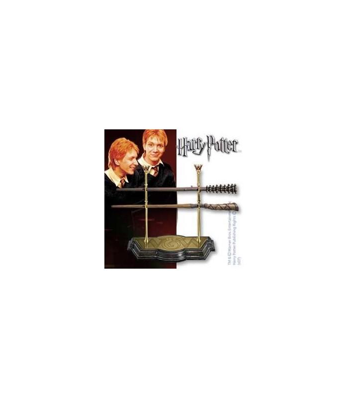 Expositor Colección de Varitas de los Hermanos Weasley