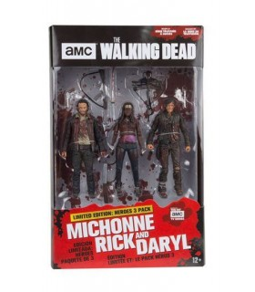 Figuras de acción 3 pack Héroes 13 cm - The Walking Dead