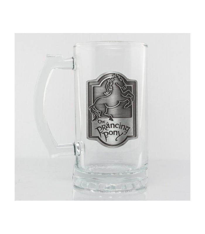 Jarra cerveza emblema metálico Pony Pisador - El Señor de Los Anillos
