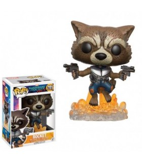 FUNKO POP! Rocket Raccoon Jetpack! 9 cm - Guardianes de la Galaxia 2
