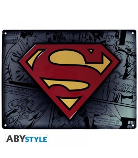 Placa de metal Superman - DC Comics