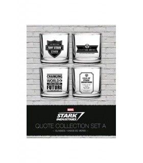 Set de vasos Industrias Stark 1 – Iron Man