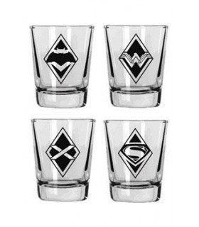 Set mino vasos logos Batman & Superman - DC Comics