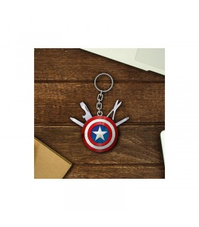 Llavero multiusos Capitán América - Marvel