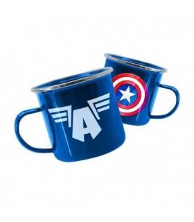 Taza metálica Capitán América - Marvel