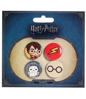 Pack 4 Chapas Cutie Harry Potter & Hedwig - Harry Potter