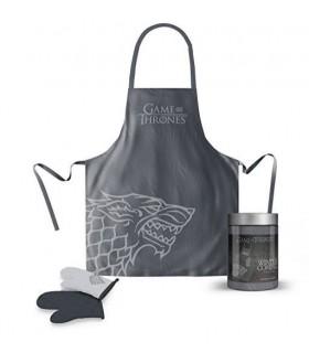 Delantal de cocina con manopla Stark - Juego de Tronos