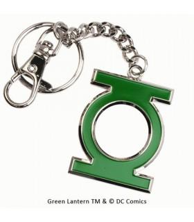 Llavero con mosquetón metálico Linterna Verde