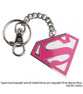 Llavero con mosquetón metálico Super Girl