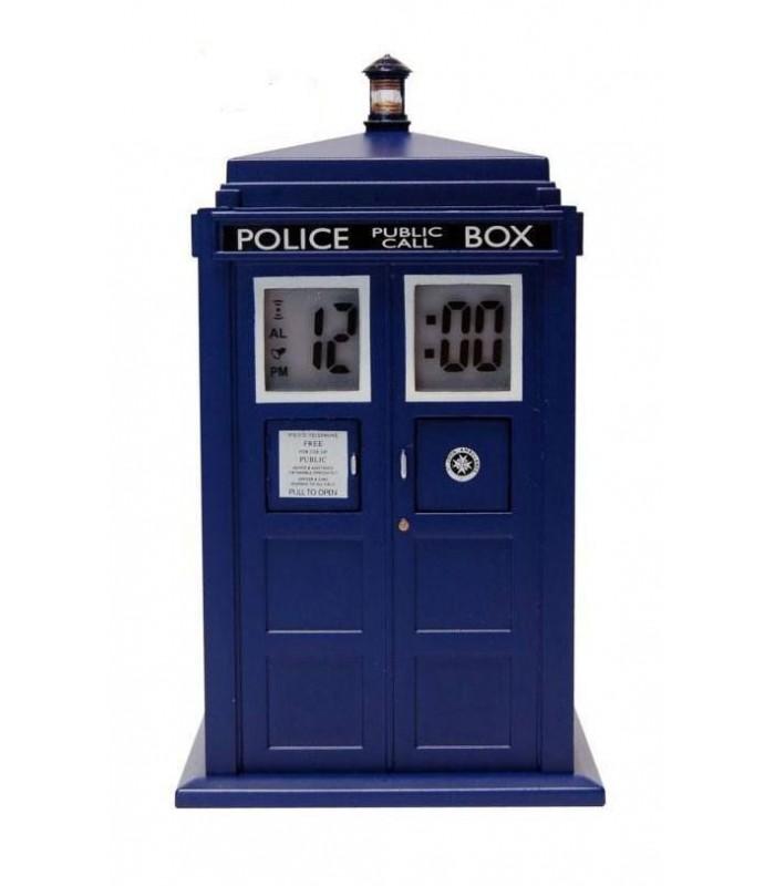 Reloj despertador con proyector Tardis - Doctor Who