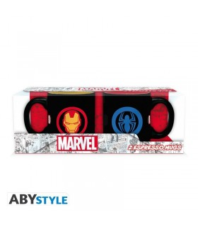 Set 2 tazas Iron Man & Spiderman 110 ml - Marvel
