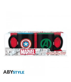 Set 2 tazas Iron Capitán América & Hulk 110 ml - Marvel