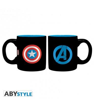 Set 2 tazas Iron Capitán América & Hulk 110 ml - Marvel