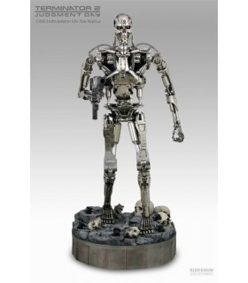 Terminator T-800 Sideshow Collectibles Chrome Endoskeleton 1:1
