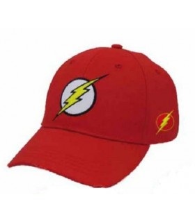 Gorra roja símbolo Flash - La Liga de la Justicia