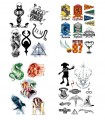 Pack de 35 tatuajes temporales - Harry Potter