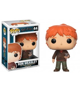 Figura Funko Pop! Ron Weasley con Scabbers - Harry Potter