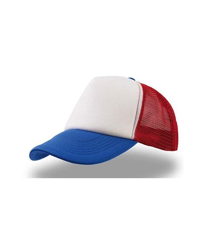 Gorra con los colores de la bandera americana