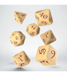 Set de dados para rol en color beige