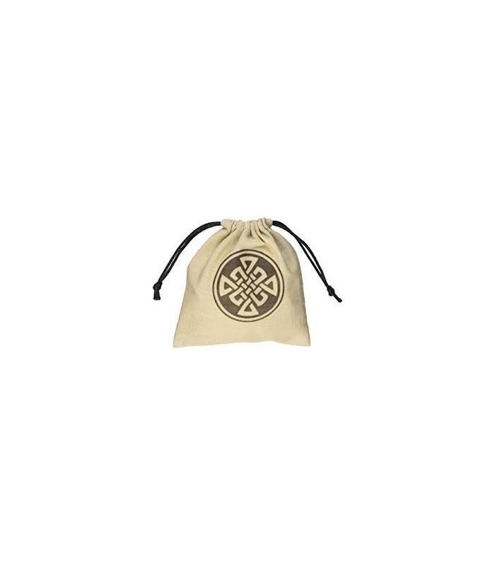 Bolsa de tela para dados con inscripción celta