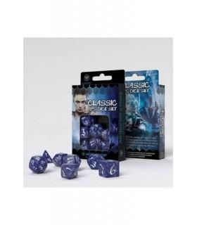Set de dados para rol en color cobalto y azul