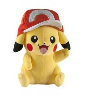 Peluche Pikachu con la gorra de Ash